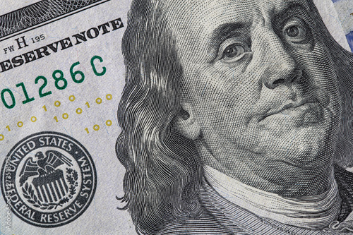 fragment of 100 dollar bill - Buy this stock photo and explore