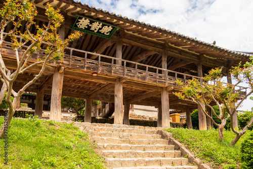 Fényképezés Traditional wooden facade of the korean Byeongsan Seowon Confucian Academy, UNESCO World Heritage