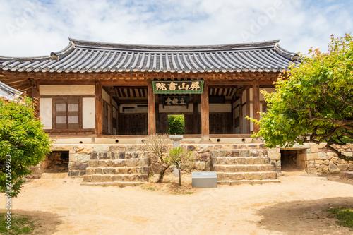 Valokuva  Inside building facade of the korean Byeongsan Seowon Confucian Academy, UNESCO World Heritage