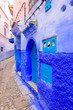 canvas print picture - Sightseeing of Morocco. Beautiful blue medina of Chefchaouen town in Morocco