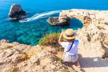 Cyprus. Tourists At Love Bridg...