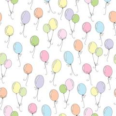 vector colorful balloon sea...