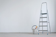 Ladder And Bucket With Paint R...