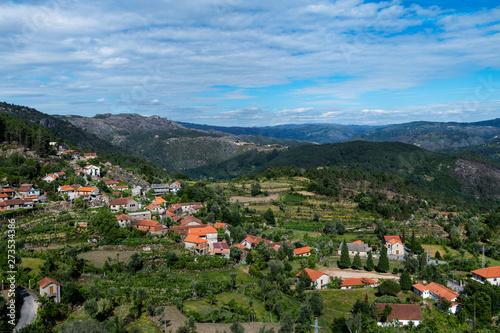 Fototapeta View of the traditional village of Ermida at the Peneda Geres National Park in norhtern Portugal, Europe. obraz na płótnie