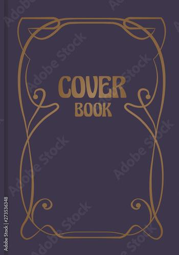 Fotografia Antique book cover with decorative ornamental modernist border