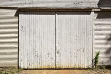 Weathered Wood Doors On Barn