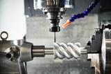 Fototapeta Coffie - CNC milling machine work. gear metalwork industry