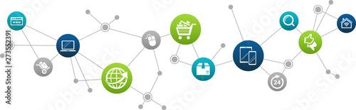 Fototapeta e-business / e-commerce / online business concept – vector illustration obraz na płótnie