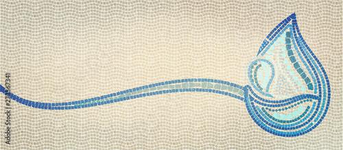 Stampa su Tela Baptism concept. Christian banner