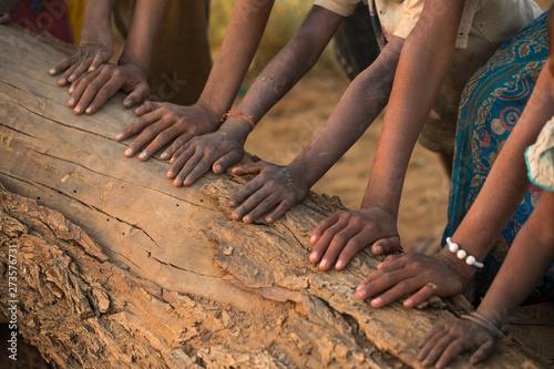 Valokuva  Group of Hand