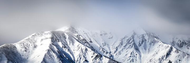Snow winter mountain landsc...