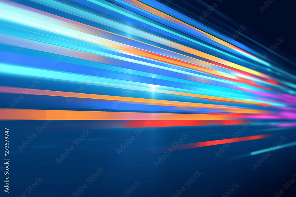 Fototapeta colorful geometric  speed line abstract technology background