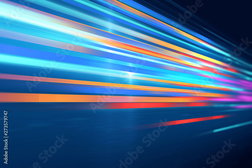 Fotografía colorful geometric  speed line abstract technology background
