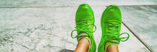 Green Running Shoes Fashion Fo...