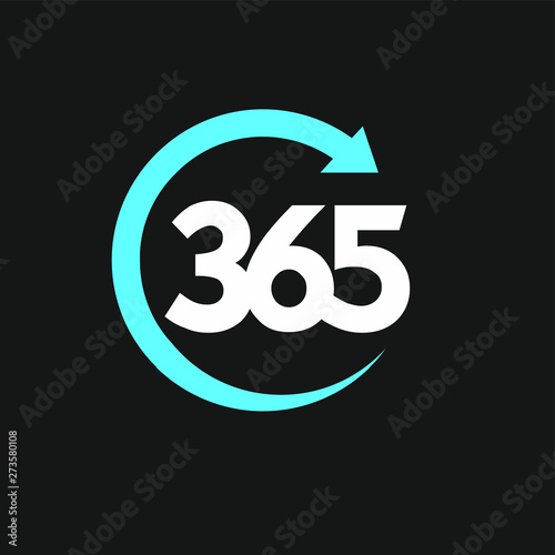 Valokuvatapetti 365 infinity logo icon design vector illustration