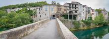 Sauve, France - 06 06 2019: A Stone Bridge To The Village