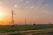 Sunset Landscape Of High-volta...