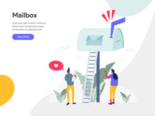 Mailbox Illustration Concept. ...