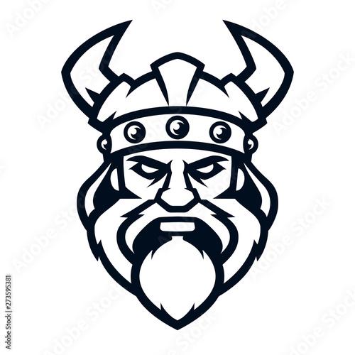 Fotografia  Professional logo viking warrior, sport mascot