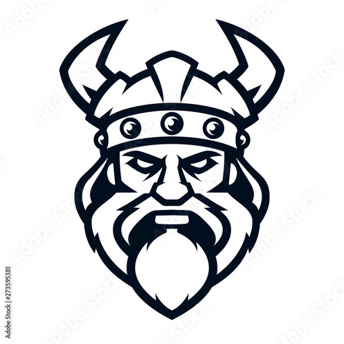 Professional logo viking warrior, sport mascot Canvas Print