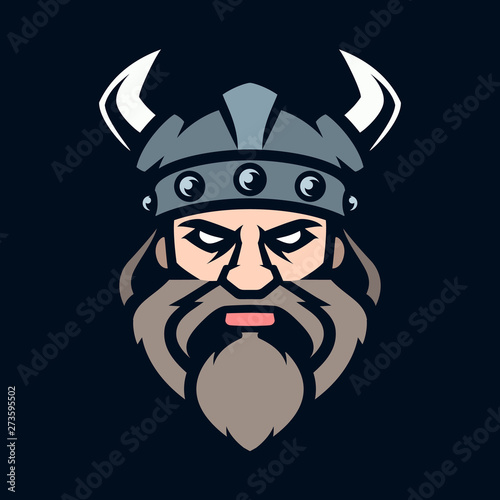 Professional logo viking warrior, sport mascot Canvas Print