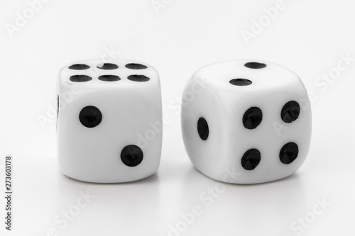 dice isolated on white background Fototapete