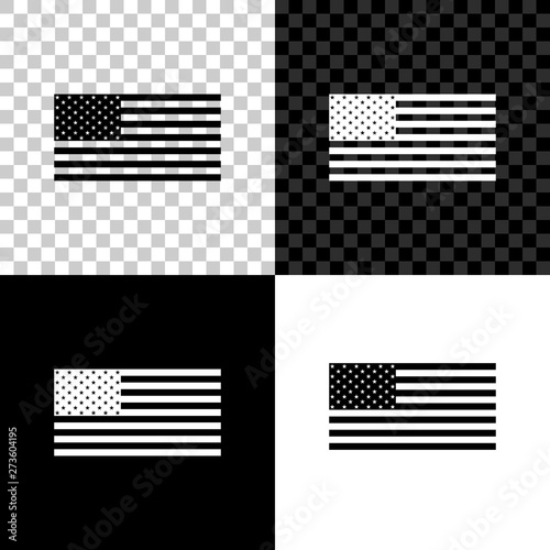 Fototapeta American flag icon isolated on black, white and transparent background