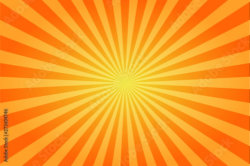 Photo Sunburst retro sun rays yellow background