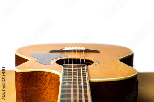 Fotografering  Acoustic guitar that is classic and beautiful