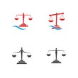 justice law Logo Template vector design