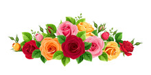Vector Horizontal Bouquet With...