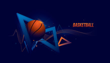 Vector Basketball Sport. Abstract Futuristic Sports Background.