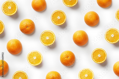 Tropical Abstract Background Orange Fruit On The White