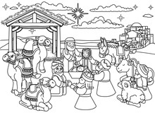 A Christmas Nativity Coloring ...