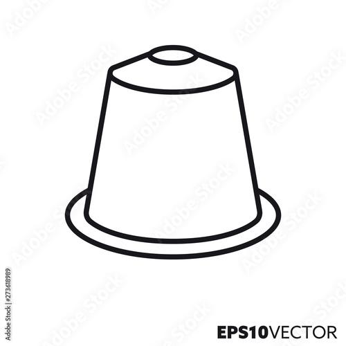 Carta da parati  Coffee capsule vector line icon