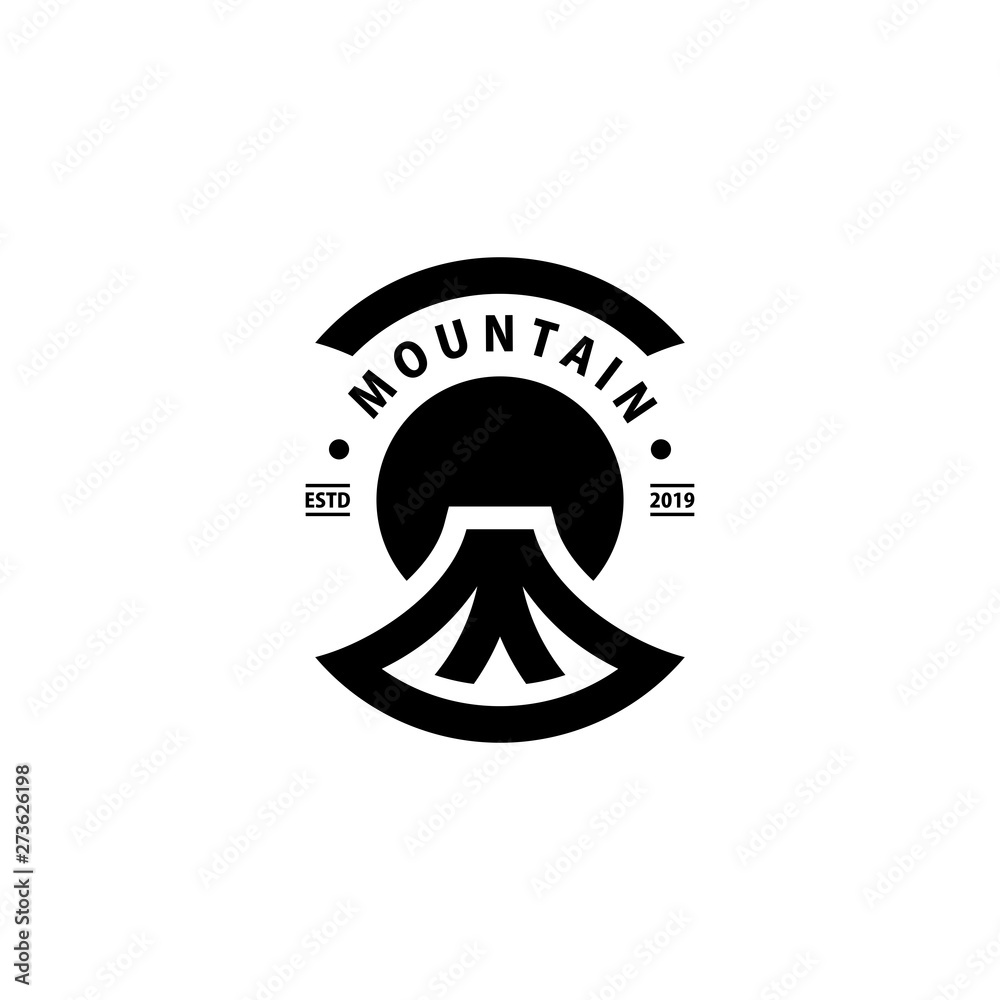 Fototapety, obrazy: simple mountain logo design inspiration