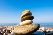 Stacked pebbles, Cairn