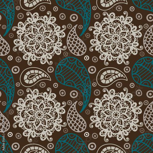 Photo Paisley seamless pattern