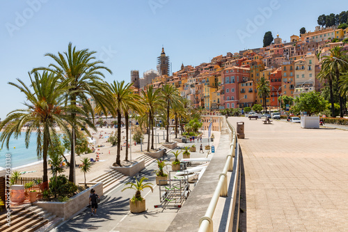 Old town architecture of Menton on French Riviera фототапет