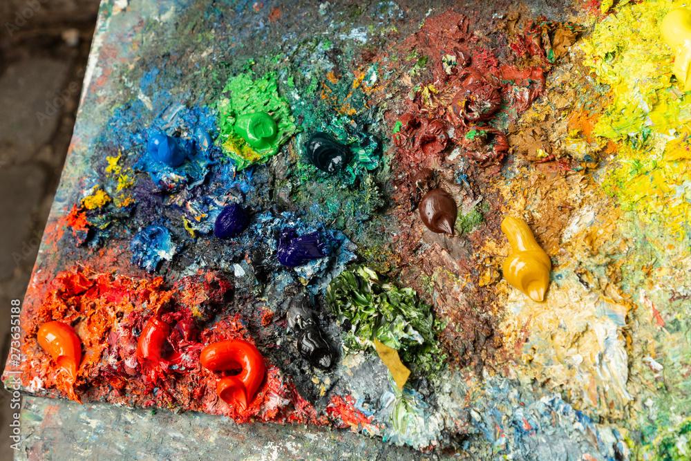 the artist's palette, Paris, France