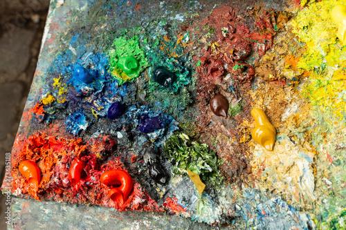 Fototapety, obrazy: the artist's palette, Paris, France