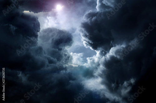 Cloudscape with a Light