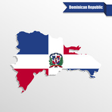 Dominican Republic Map With Fl...