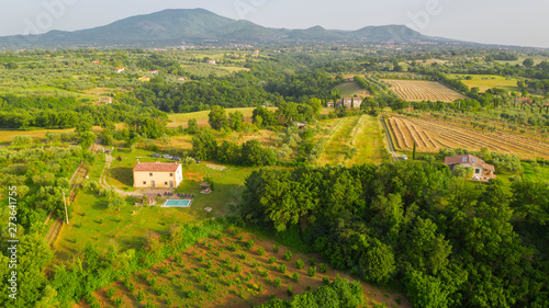 Aerial view on the Irpinia countryside in the province of Avellino, Italy Wallpaper Mural