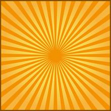 Orange Rays Of Vector Carnival Background. Vector Illustration