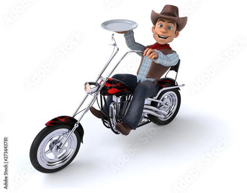Fotografia Fun Cowboy - 3D Illustration