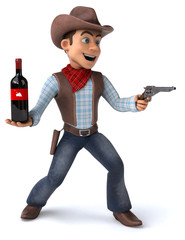 Fun Cowboy - 3D Illustration