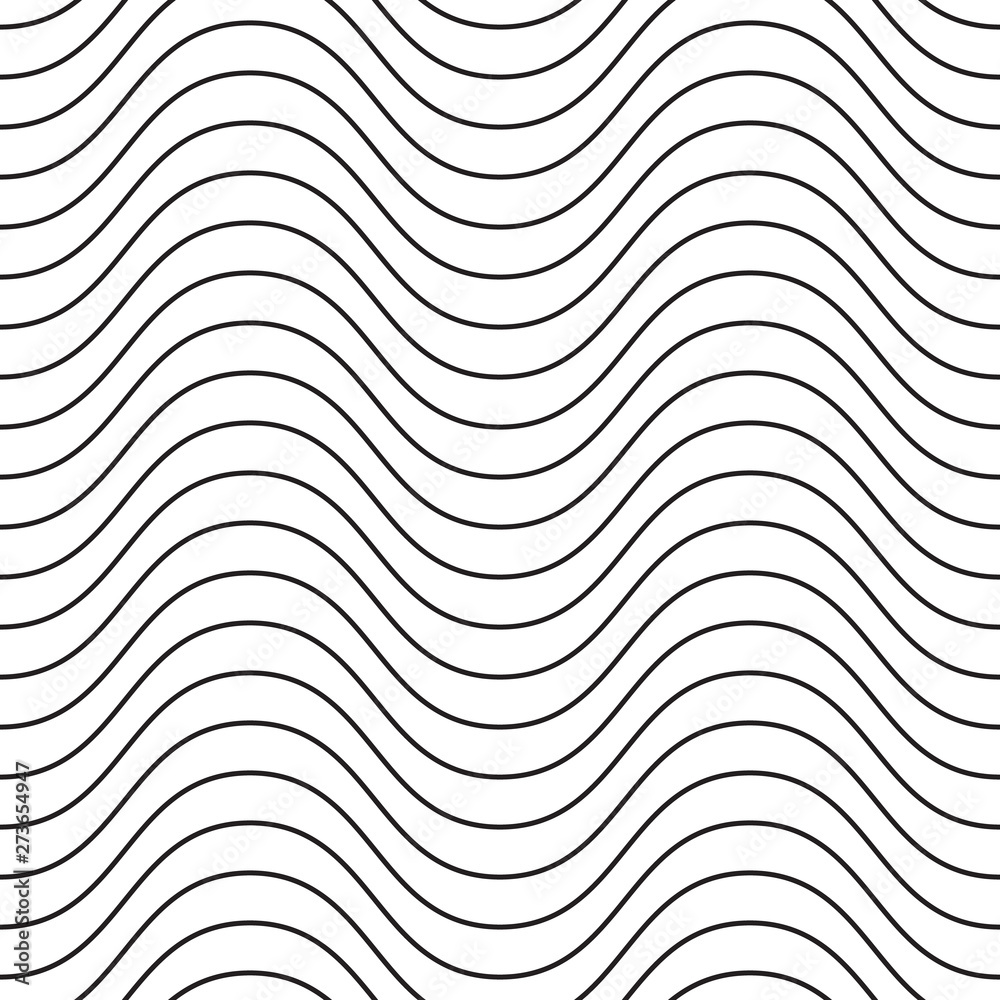 Fototapety, obrazy: Elegant wavy linear seamless vector pattern