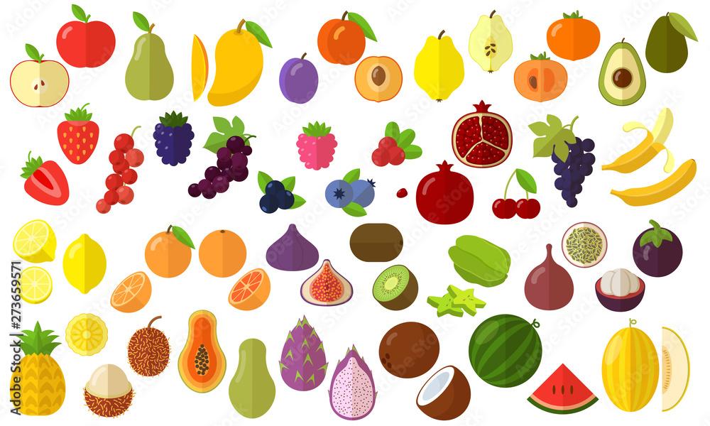 Fototapety, obrazy: fruits vector icon set