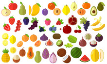 Fruits Vector Icon Set